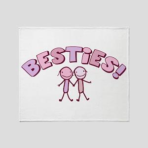 Besties Throw Blanket