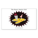 Atomic Martini Club POW Sticker (Rectangle 10 pk)