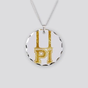Pi Day Necklace Circle Charm