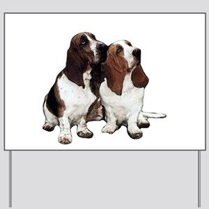 Basset Hounds Yard Sign