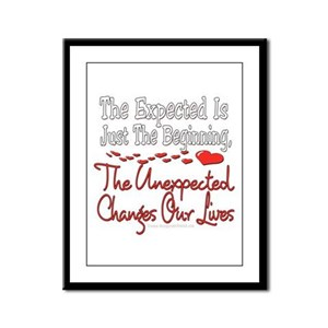 Unexpected Heart Framed Panel Print