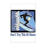 Skier Challenge Mini Poster Print