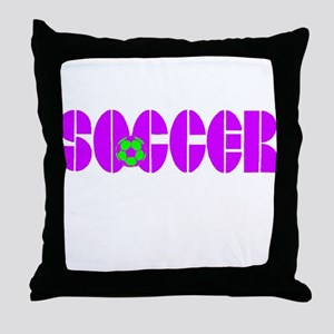 Soccer Chic Throw Pillow