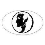 Dark Elf Oval Sticker