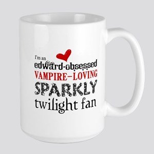 Sparkly Twilight Fan Large Mug