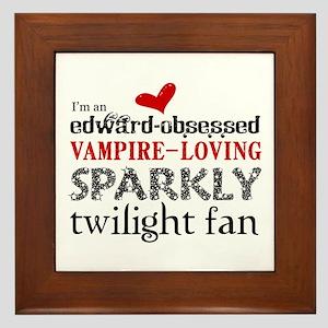Sparkly Twilight Fan Framed Tile