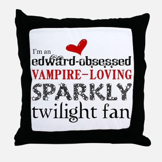 Sparkly Twilight Fan Throw Pillow
