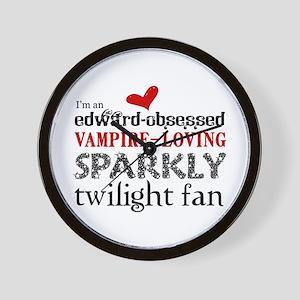 Sparkly Twilight Fan Wall Clock