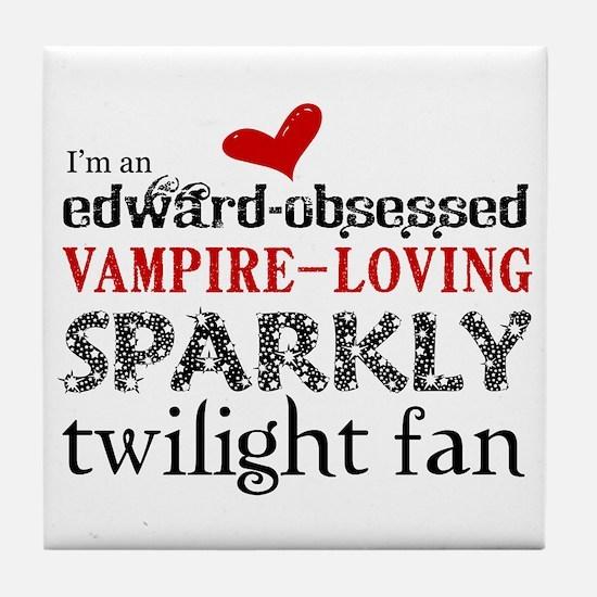 Sparkly Twilight Fan Tile Coaster