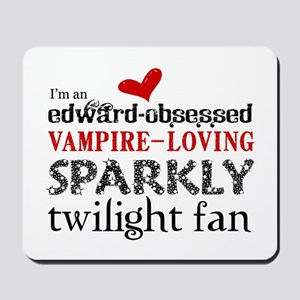 Sparkly Twilight Fan Mousepad