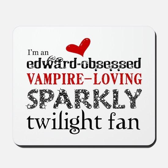 Sparkly Twilight Fan Mousepad