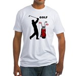 Golf Swing Fitted T-Shirt