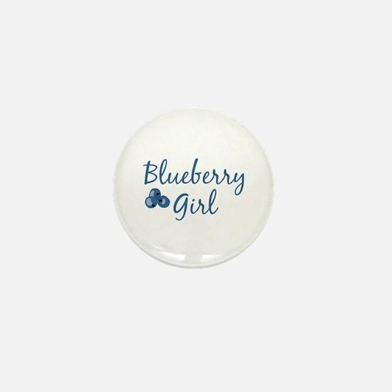 Blueberry Girl Mini Button