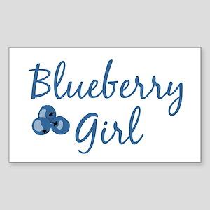 Blueberry Girl Rectangle Sticker