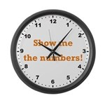 Show me the numbers! Large Wall Clock