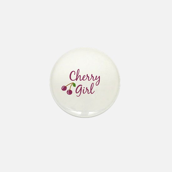 Cherry Girl Mini Button
