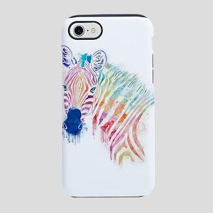watercolor zebra iPhone 7 Tough Case