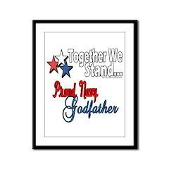 Navy Godfather Framed Panel Print
