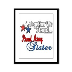 Army Sister Framed Panel Print
