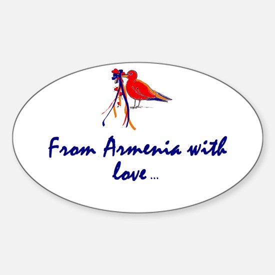 From Armenia with Love Oval Decal
