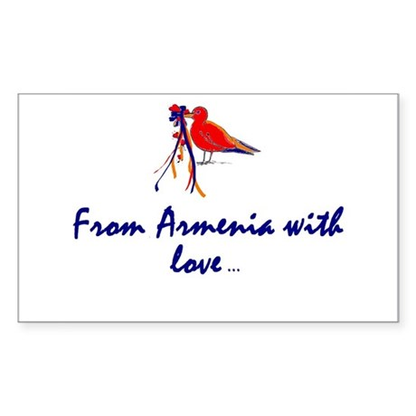 From Armenia with Love Rectangle Sticker