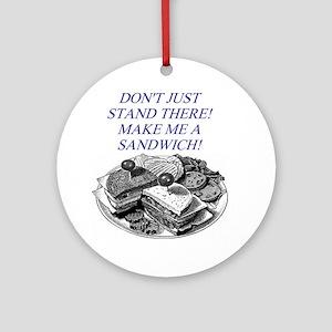 sandwich male chauvinist pig Ornament (Round)