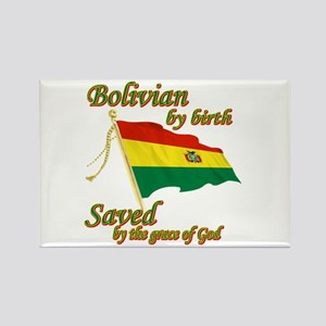 Bolivian by birth Rectangle Magnet