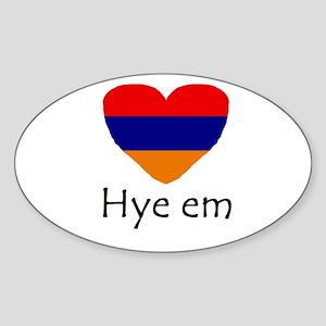 Hye em Oval Sticker