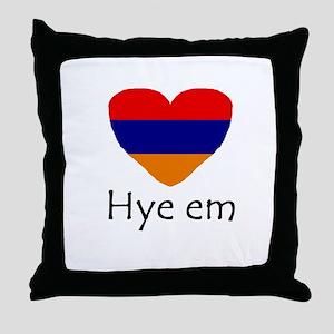 Hye em Throw Pillow