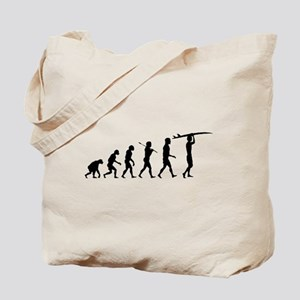 Surfing Evolution Tote Bag