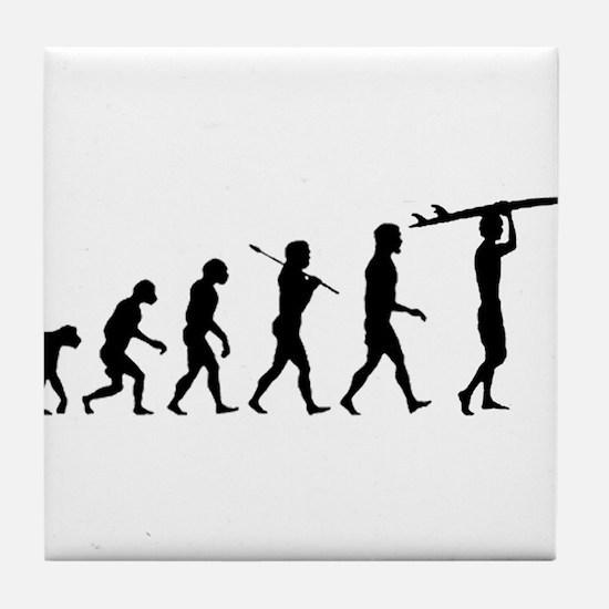 Surfing Evolution Tile Coaster