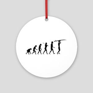 Surfing Evolution Ornament (Round)
