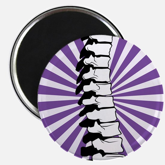 Purple Burst Spine Magnet