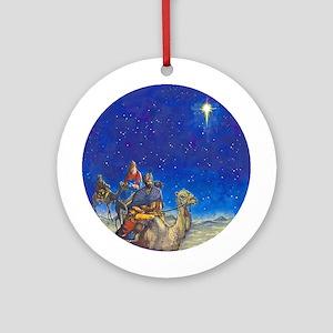 Three Wisemen Christmas Ornament-2 (Round)