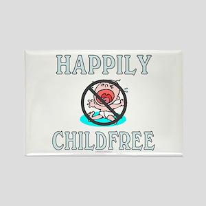 Happily childfree (rectangular magnet)