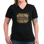 Egyptian Hieroglyphics Women's V-Neck Dark T-Shirt