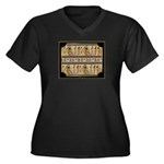 Egyptian Hieroglyphics Women's Plus Size V-Neck Da