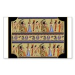 Egyptian Hieroglyphics Sticker (Rectangle 50 pk)