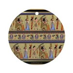 Egyptian Hieroglyphics Ornament (Round)