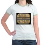Egyptian Hieroglyphics Jr. Ringer T-Shirt