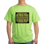 Egyptian Hieroglyphics Green T-Shirt