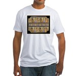 Egyptian Hieroglyphics Fitted T-Shirt