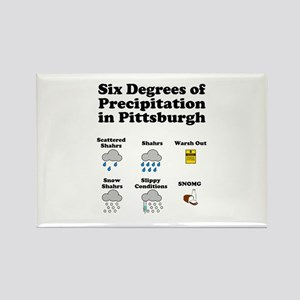 Six Degrees of Precipitation Rectangle Magnet