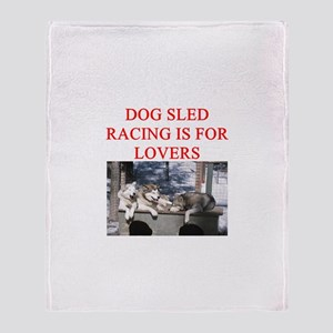 dog racing Throw Blanket