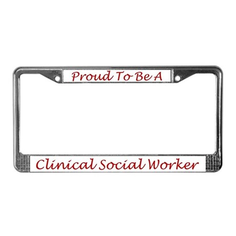 Clinical Social Worker License Plate Frame