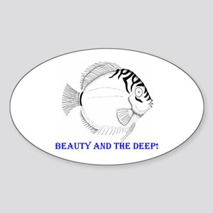 Tropical fish - Beauty and th Oval Sticker
