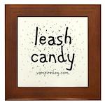 Leash Candy by Vampiredog.com Framed Tile