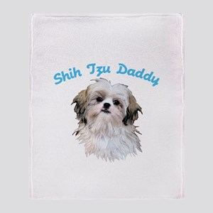 Shih Tzu Daddy Throw Blanket