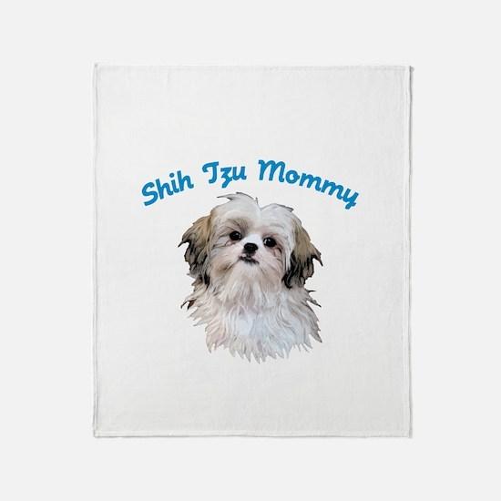 Shih Tzu Mommy Throw Blanket
