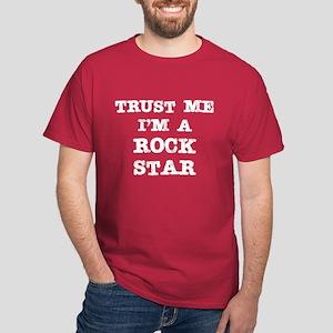 Rock Star Trust (white) Dark T-Shirt
